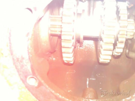 Blick in das Schaltgetriebe