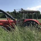 Güldner G45AS beim mulchen