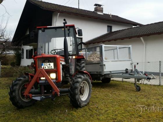 Eigenbau Fronthydraulik für Lindner BF320SA