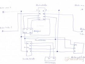 Schaltplan Zweikreisanlage mit Anhängersteckdose