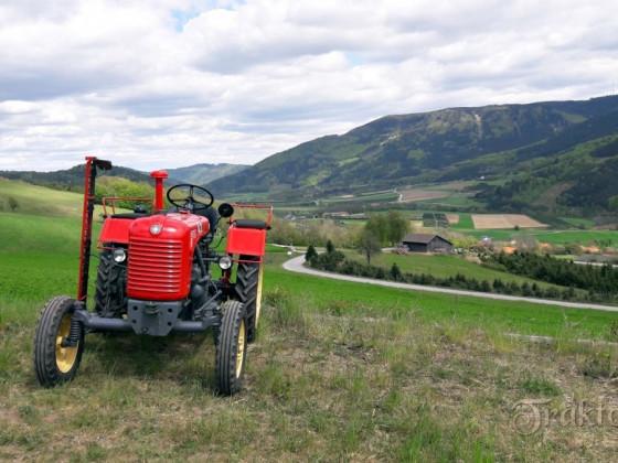 Steyr T84e in schöner Landschaft